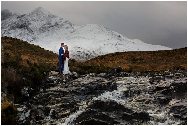 Skye waterfall mountain elopement