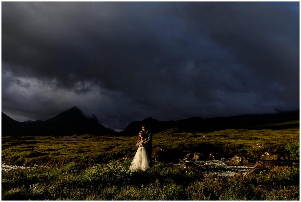 sunrise wedding on the isle of skye